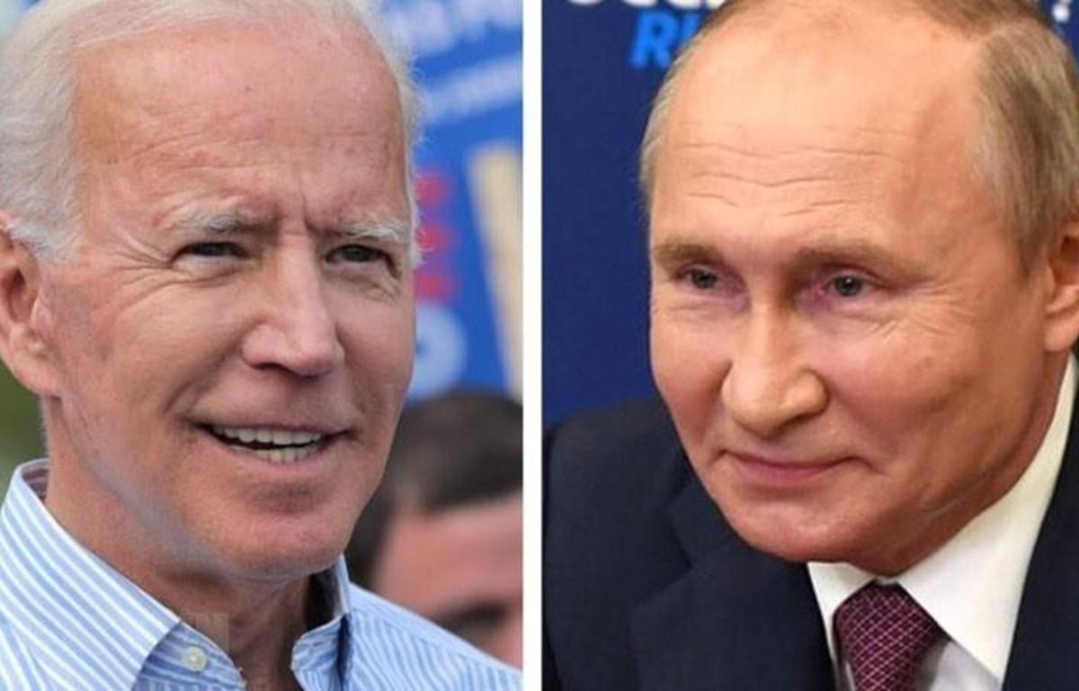 Tổng thống Mỹ Joe Biden (trái) và Tổng thống Nga Vladimir Putin. (Ảnh: Wxow/TTXVN)