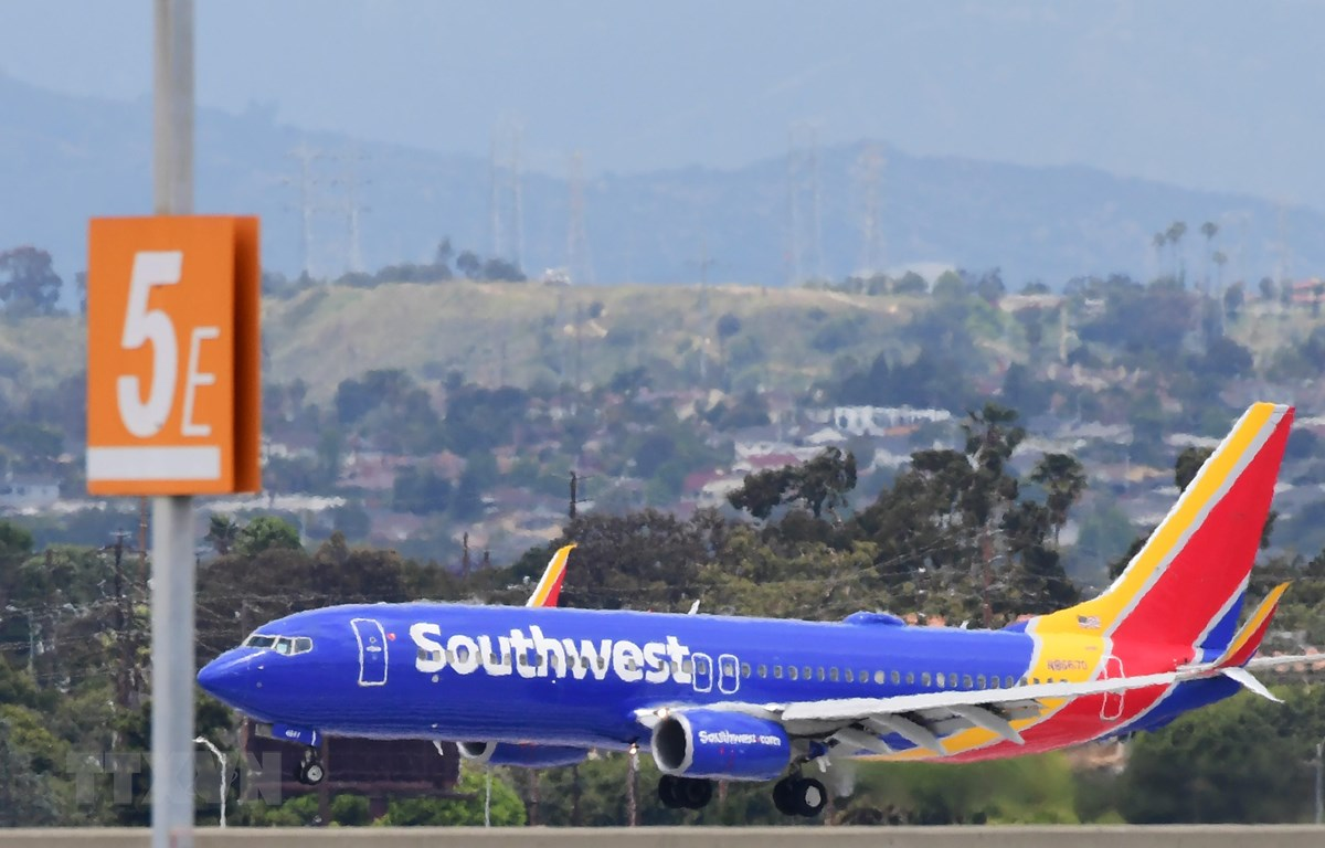Máy bay của hãng hàng không Southwest Airlines. (Ảnh: AFP/TTXVN)