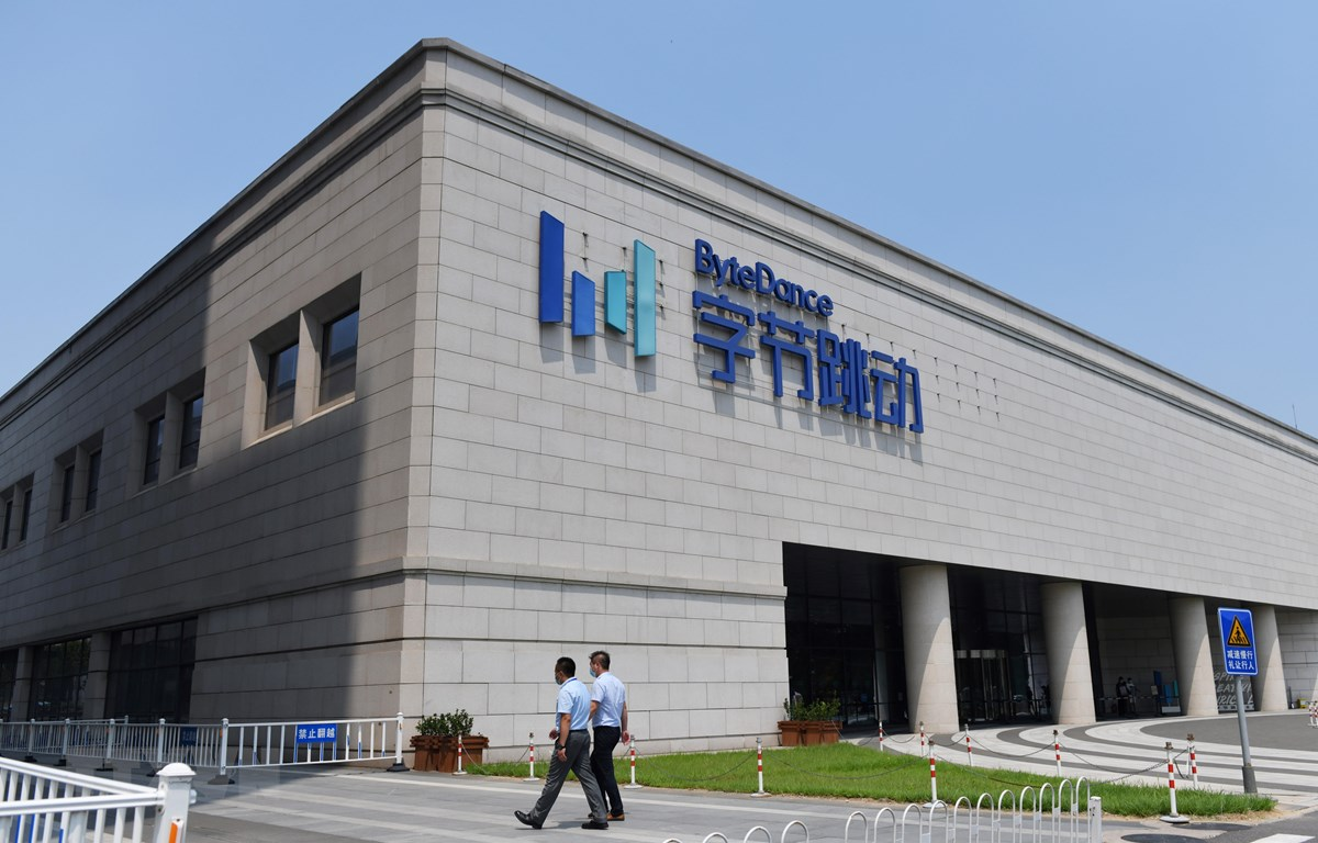 Trụ sở tập đoàn ByteDance, công ty mẹ của TikTok, tại Bắc Kinh, Trung Quốc ngày 8/7/2020. (Ảnh: AFP/TTXVN)