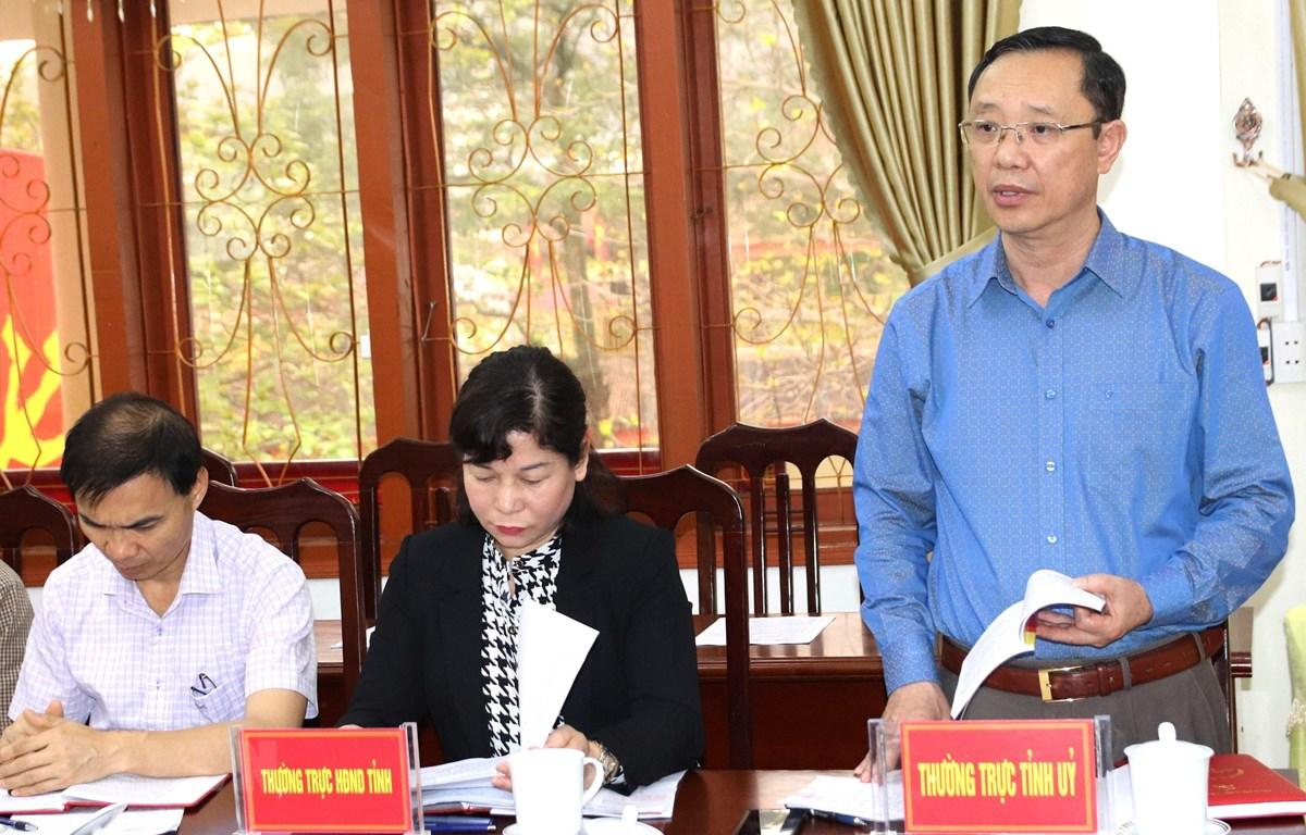 Phó Bí thư Thường trực Tỉnh ủy, Chủ tịch HĐND tỉnh Hà Giang Thào Hồng Sơn. (Ảnh: Minh Tâm/TTXVN)