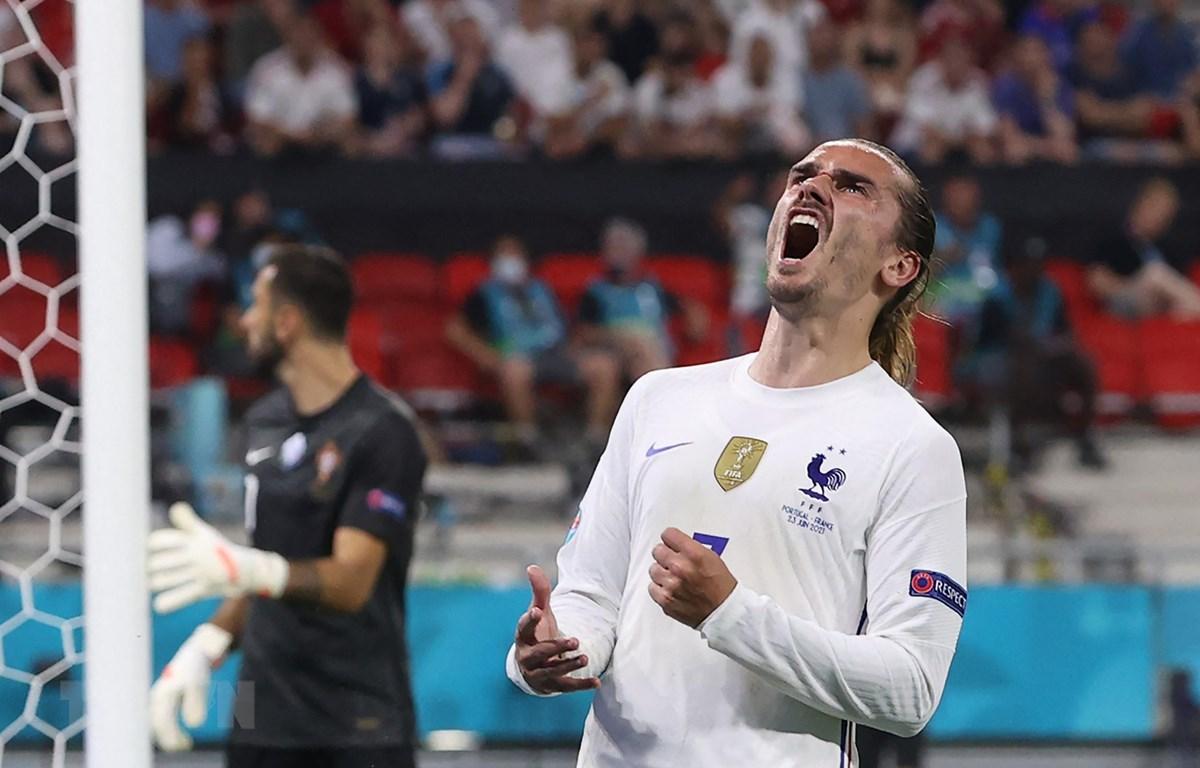 Tiền đạo tuyển Pháp Antoine Griezmann trong trận đấu lượt cuối bảng F, vòng chung kết EURO 2020 tại Budapest, Hungary ngày 23/6/2021. (Ảnh: AFP/TTXVN)
