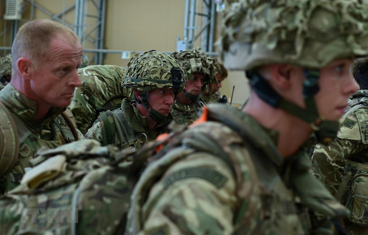 Binh sỹ Anh được triển khai tại Kandahar, Afghanistan, ngày 27/10/2014. (Ảnh: AFP/TTXVN)