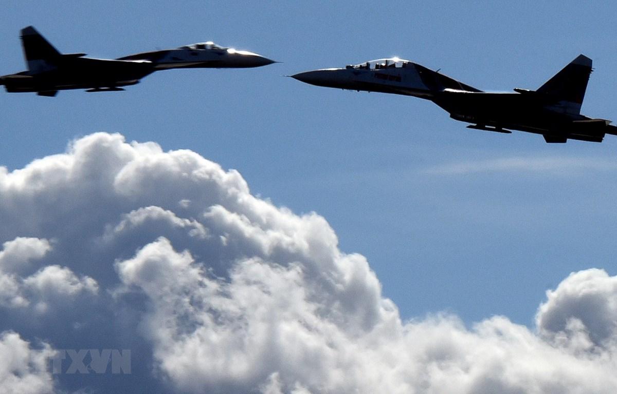 Máy bay tiêm kích Su-27 của Nga. (Ảnh: AFP/TTXVN)