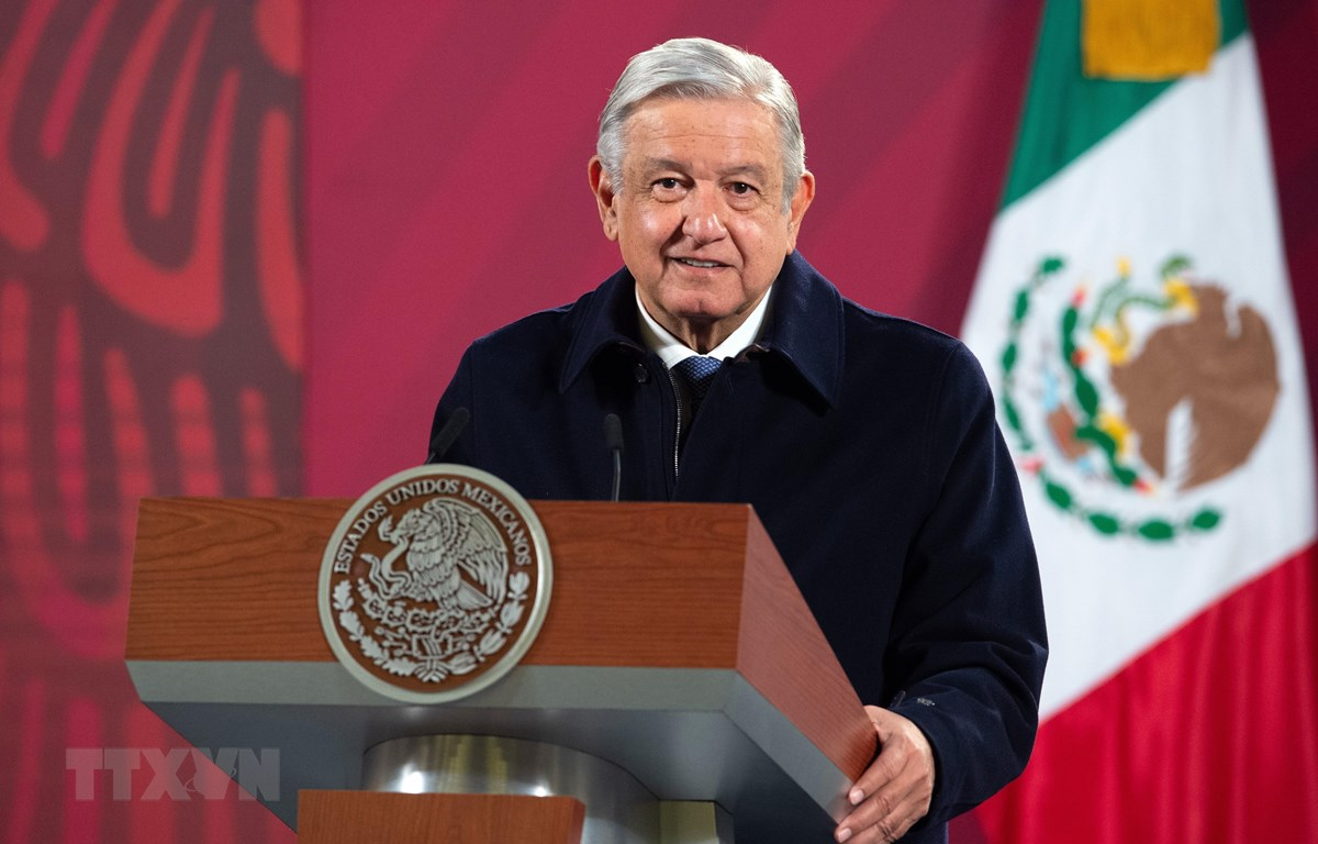 Tổng thống Mexico Andres Manuel Lopez Obrador. (Ảnh: AFP/TTXVN)