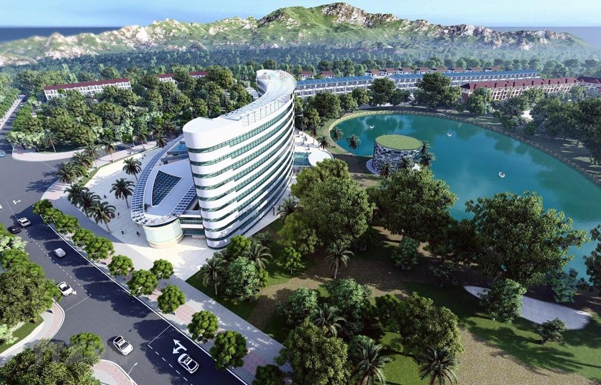Dự án Khu đô thị thương mại - du lịch Apec Golden Valley Mường Lò do Công ty cổ phần Đầu tư BG Group - đơn vị thành viên của Công ty cổ phần tập đoàn APEC Group thực hiện. (Ảnh: TTXVN phát)