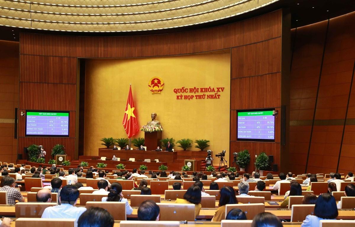 Toàn cảnh Kỳ họp thứ nhất Quốc hội khóa XV ngày 25/7. (Ảnh: Phương Hoa - TTXVN)