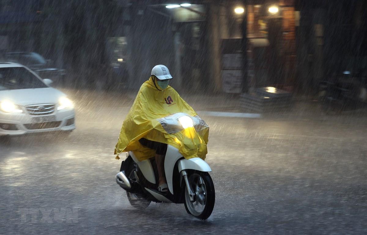 Hà Nội có mưa rào và dông rải rác. (Ảnh: Dương Giang/TTXVN)