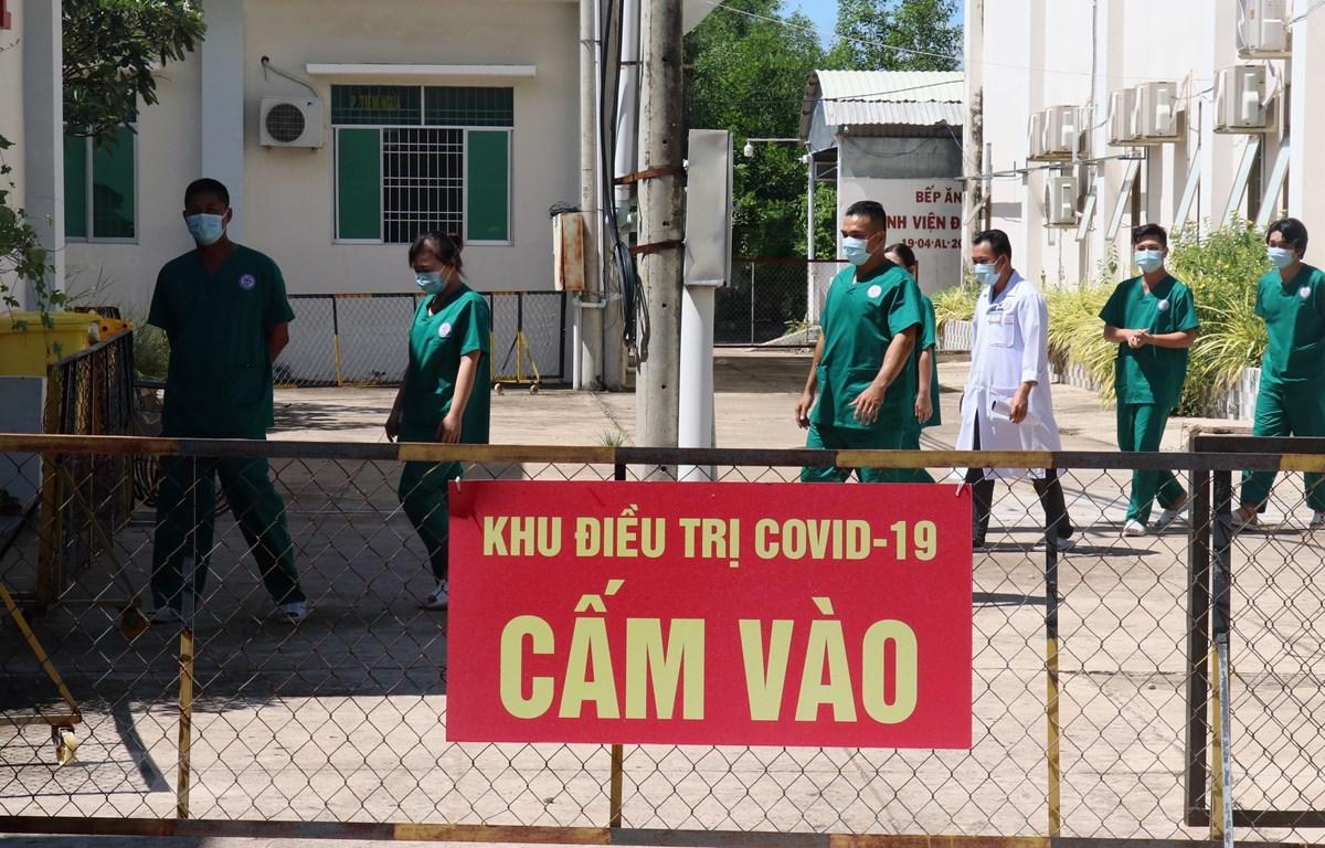 Khu cách ly điều trị bệnh nhân COVID-19 thuộc Khoa truyền nhiễm, Trung tâm Y tế thành phố Hà Tiên (Kiên Giang). (Ảnh: Lê Huy Hải/TTXVN)