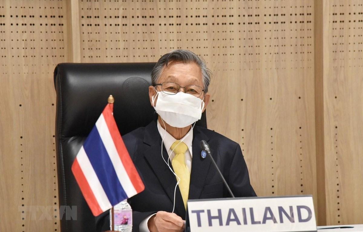 Chủ tịch Quốc hội Thái Lan Chuan Leekpai tham dự AIPA 42. (Ảnh: CTV/TTXVN phát)