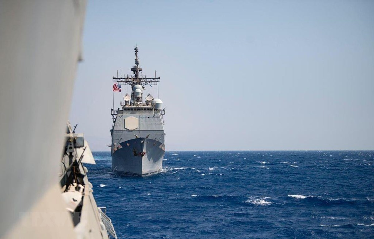 Hải quân Mỹ và Israel diễn tập trên Biển Đỏ. (Ảnh: TTXVN phát)