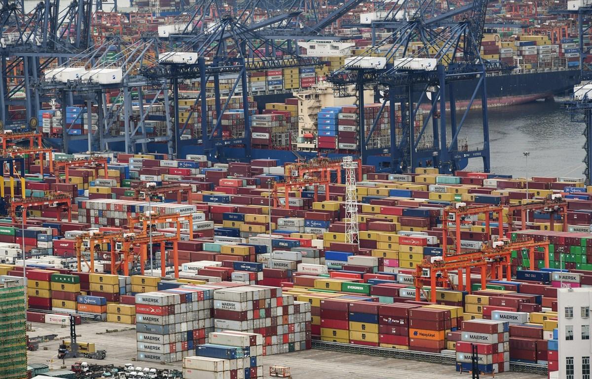 Quang cảnh cảng hàng hóa ở Thâm Quyến, tỉnh Quảng Đông, Trung Quốc, ngày 22/6/2021. (Ảnh: AFP/TTXVN)