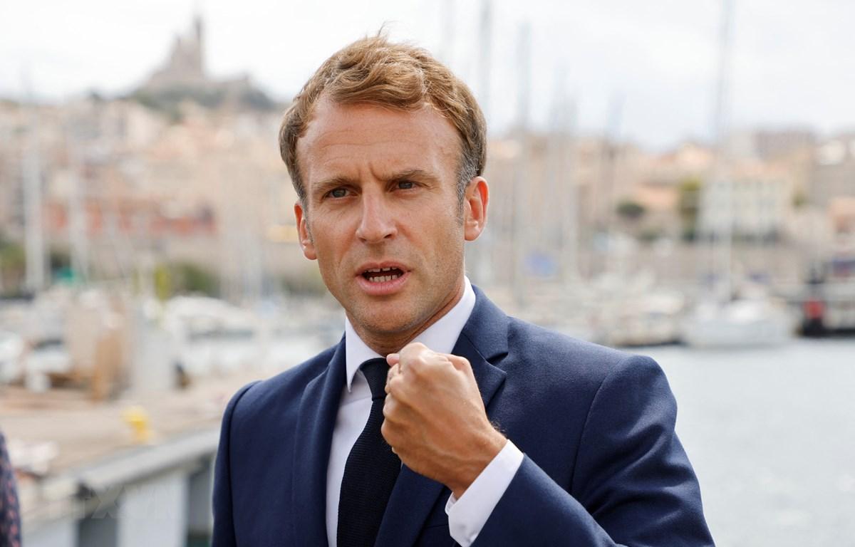 Tổng thống Pháp Emmanuel Macron. (Ảnh: AFP/TTXVN)