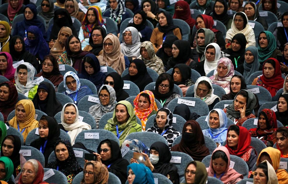 Phụ nữ Afghanistan tại Đại hội đồng các bộ lạc (Loya Jirga) ở Kabul tháng 5/2019. (Nguồn:nytimes.com)