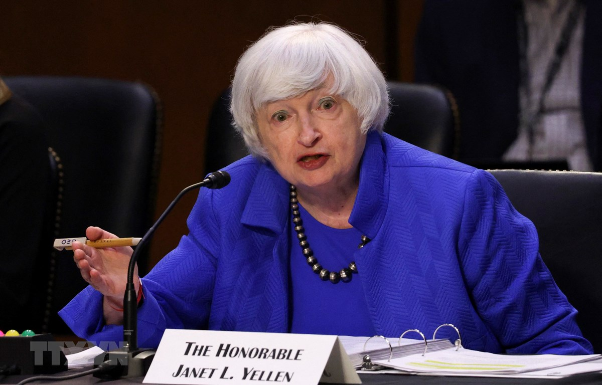 Bộ trưởng Tài chính Mỹ Janet Yellen phát biểu tại Washington, DC., ngày 28/9/2021. (Ảnh: AFP/TTXVN)