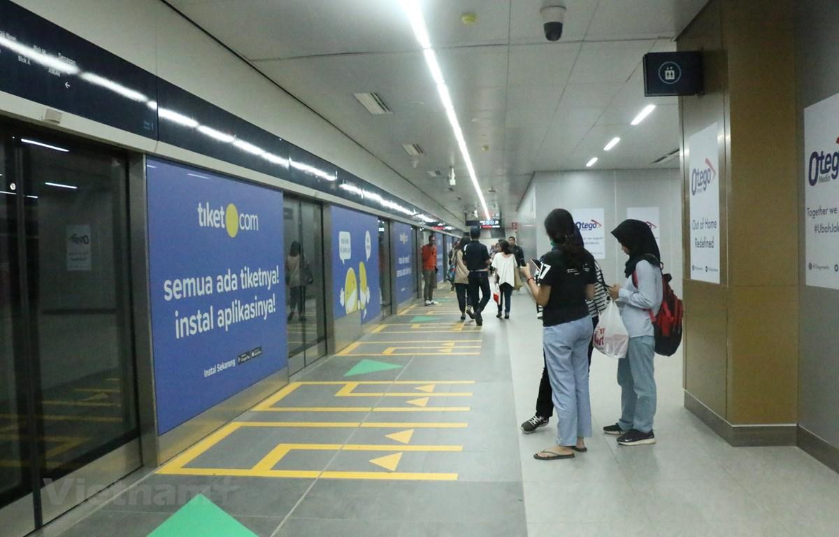 Khu vực nhà ga Senayan. (Ảnh: Đỗ Quyên/Vietnam+)