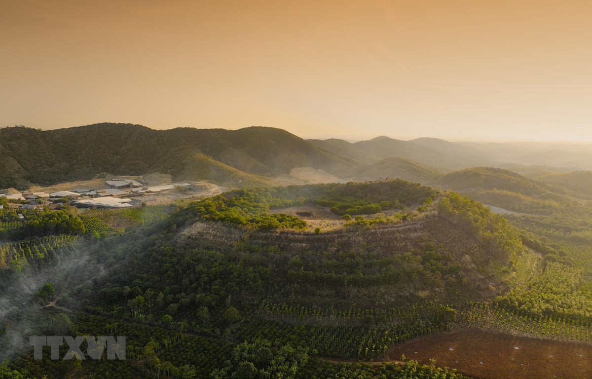 Núi lửa Băng Mo, thị trấn Ea T'ling, huyện Cư Jút, tỉnh Đắk Nông. (Nguồn: TTXVN)