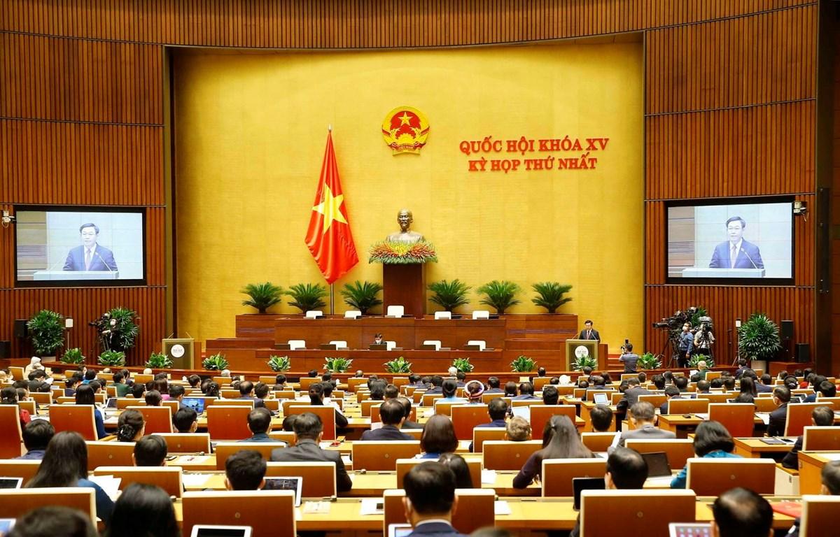 Chủ tịch Quốc hội khóa XIV Vương Đình Huệ phát biểu khai mạc. (Ảnh: Doãn Tấn - TTXVN)