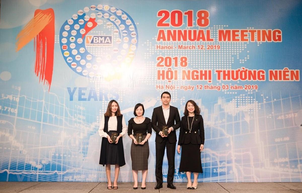 Hiệp hội Trái phiếu Việt Nam tổ chức trao giải VBMA Best Bond Award 2018, ngày 12/3. (Ảnh: BTC/Vietnam+)