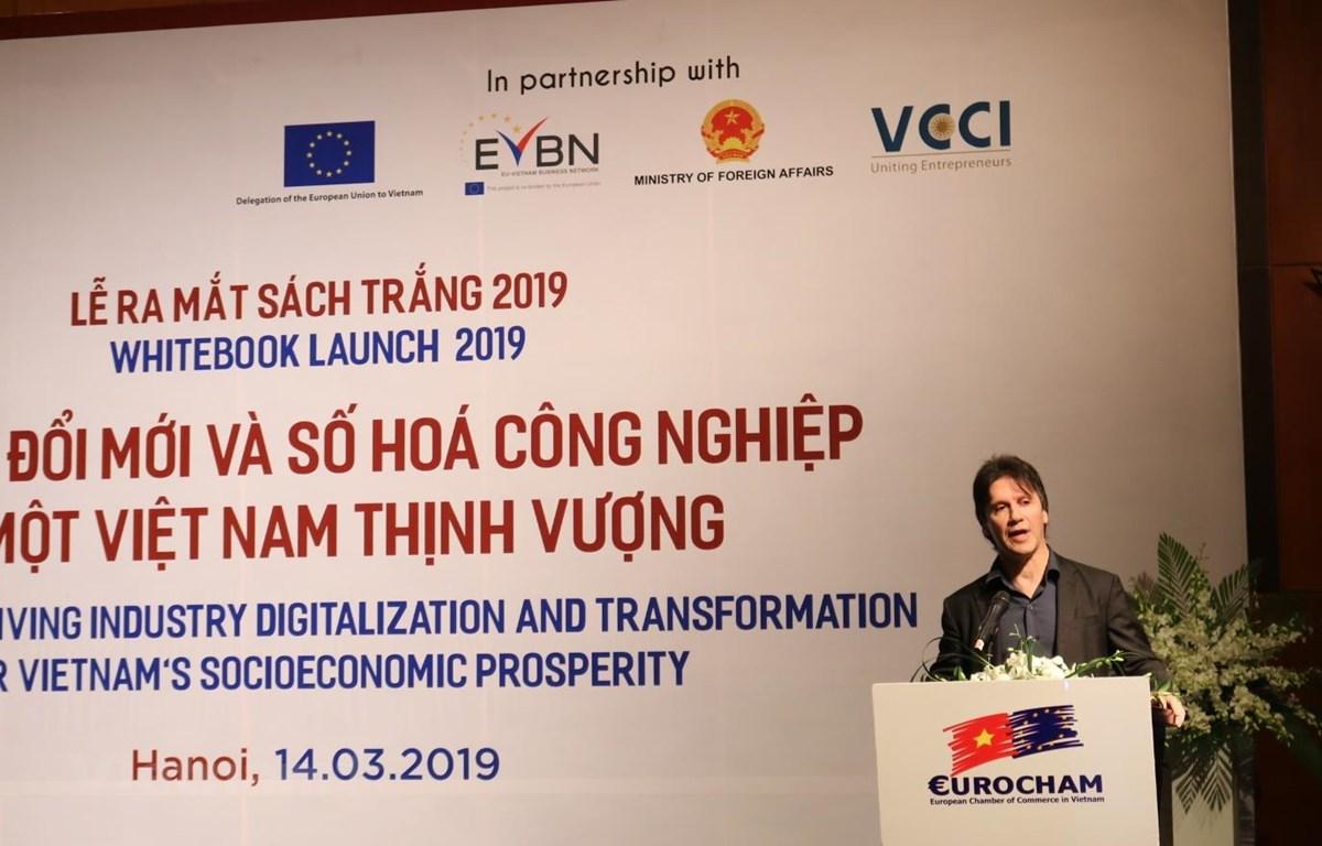 EuroCham đã ra mắt ấn phẩm thường niên Sách Trắng 2019. (Ảnh: PV/Vietnam+)