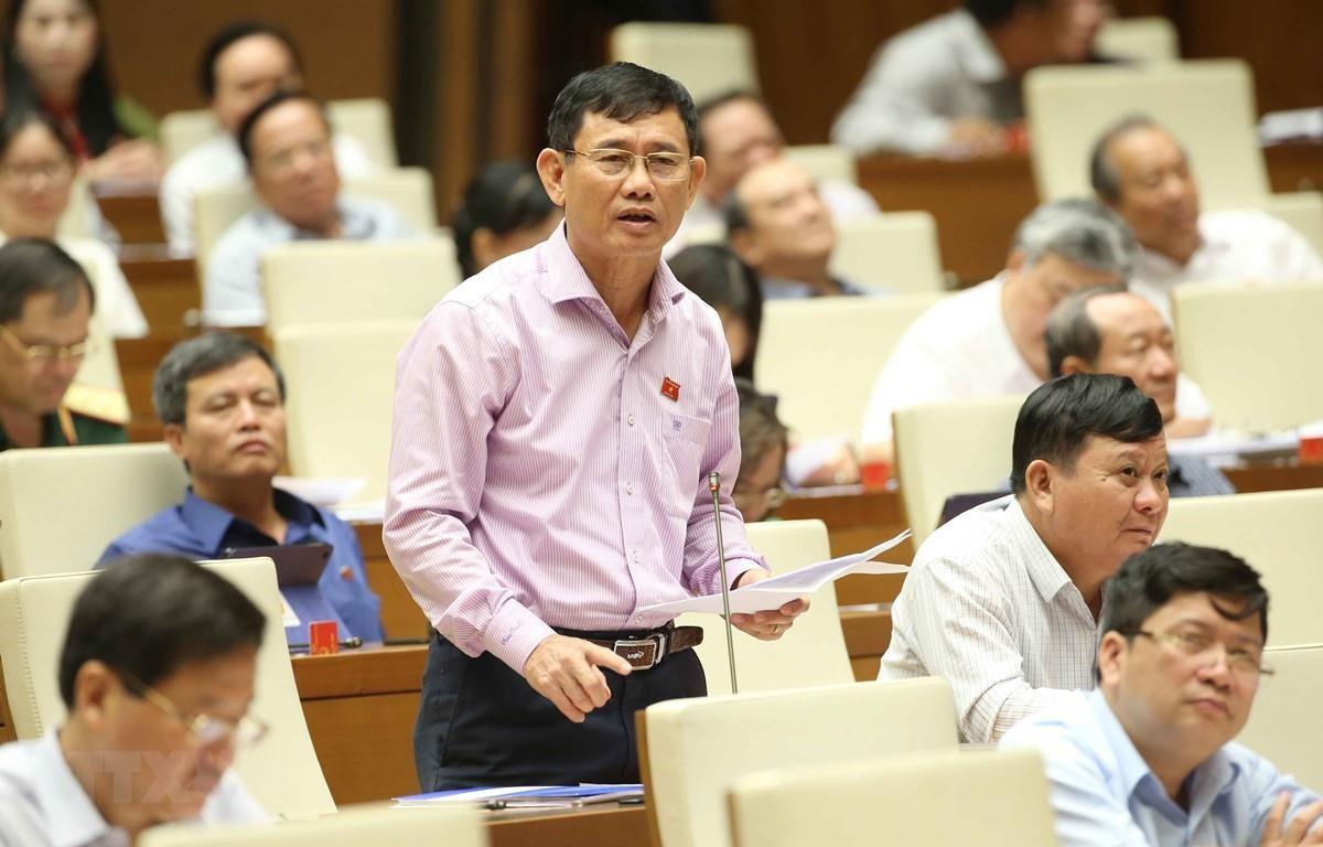 Đại biểu quốc hội tỉnh Quảng Bình Nguyễn Ngọc Phương phát biểu. (Ảnh: Doãn Tấn/TTXVN)