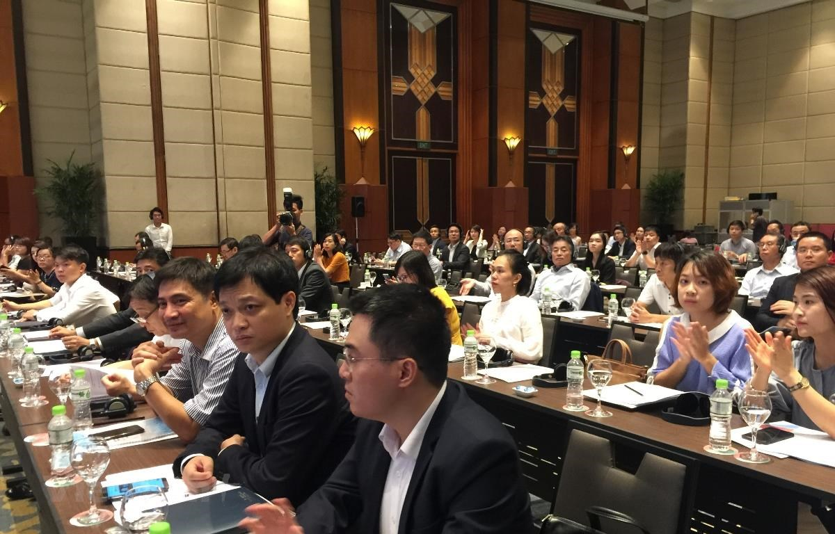 """JICA khởi động """"Dự án Tăng cường năng lực về nâng cao tính công bằng và minh bạch của thị trường cổ phiếu Việt Nam,"""" ngày 20/6. (Ảnh: PV/Vietnam+)"""