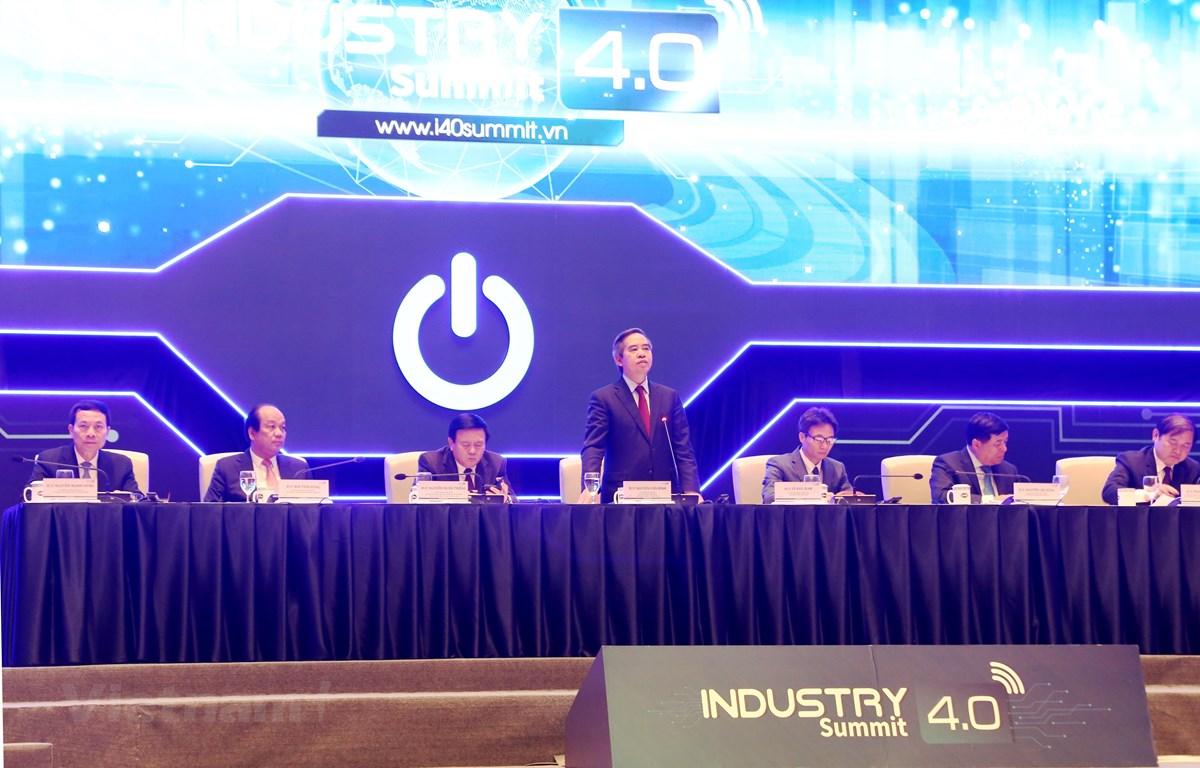 Diễn đàn cấp cao và Triển lãm quốc tế về Công nghiệp 4.0, ngày 3/10/2019. (Ảnh: BKT/Vietnam+)
