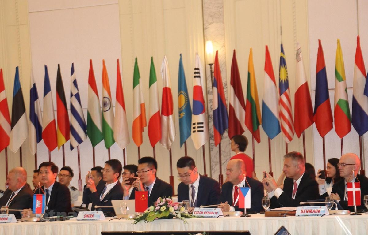 Ngày 9/10, Hội nghị Tổng cục trưởng Hải quan ASEM 13 chính thức khai mạc, tại Hạ Long, Quảng Ninh, Việt Nam. (Ảnh: PV/Vietnam+)