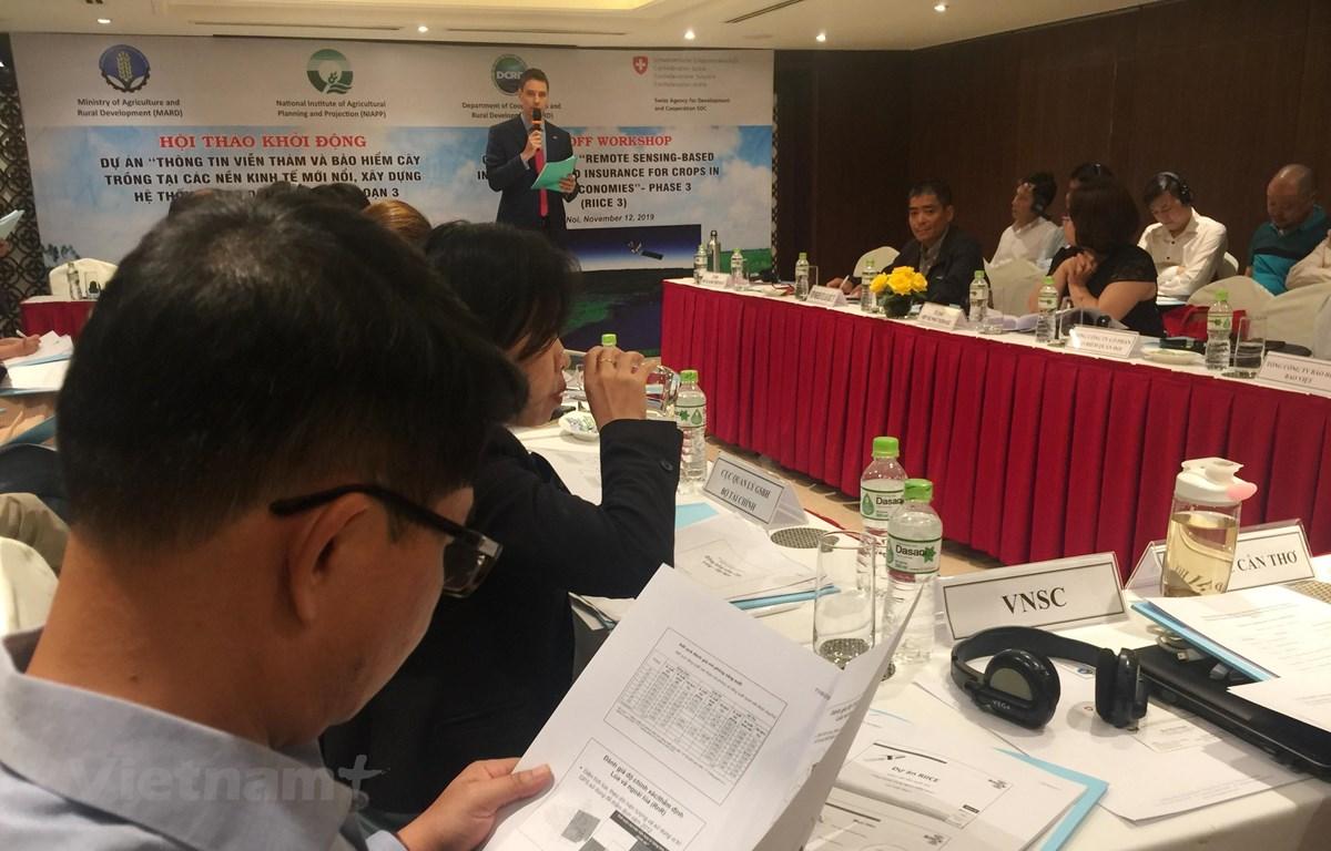 """Dự án """"Hệ thống thông tin viễn thám và bảo hiểm nông nghiệp tại các nền kinh tế mới nổi."""" (PV/Vietnam+)"""