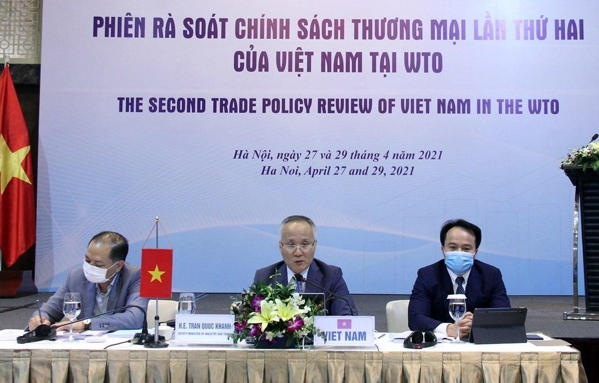 Phiên rà soát chính sách thương mại lần thứ 2 của Việt Nam tại WTO, tại Hà Nội. (Ảnh: Vietnam+)