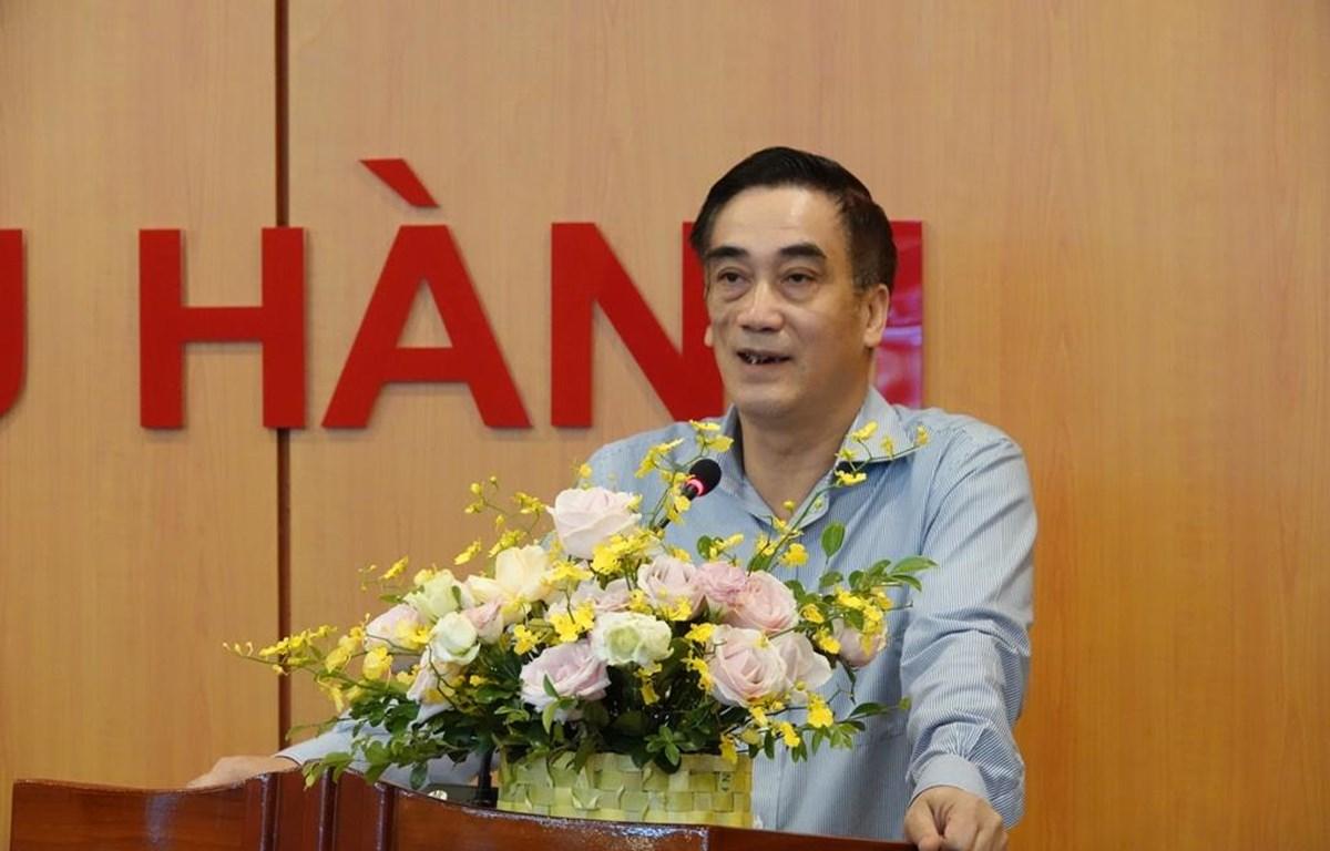 """Thứ trường Bộ Tài chính-Trần Xuân Hà phát biểu tại Tại Hội nghị trực tuyến với các địa phương về """"Thúc đẩy giải ngân vốn đầu tư công từ nguồn vốn ODA, vay ưu đãi nước ngoài 5 tháng."""" (Ảnh: Vietjnam+)"""