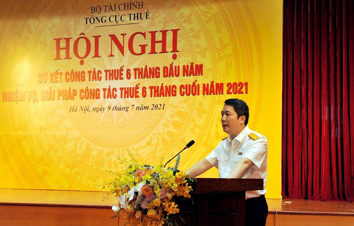 Hội nghị trực tuyến để sơ kết công tác 6 tháng đầu năm, triển khai nhiệm vụ 6 tháng cuối năm 2021, ngày 9/7. (Ảnh: Vietnam+)