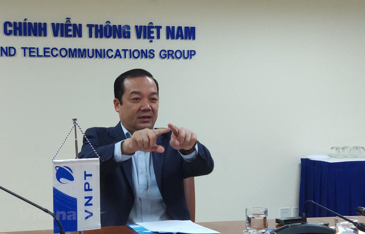 Ông Phạm Đức Long là một trong những nhân tố quan trọng trong việc thúc đẩy, dẫn dắt VNPT tái cơ cấu thành công. Ảnh: Trung Hiền/Vietnam+