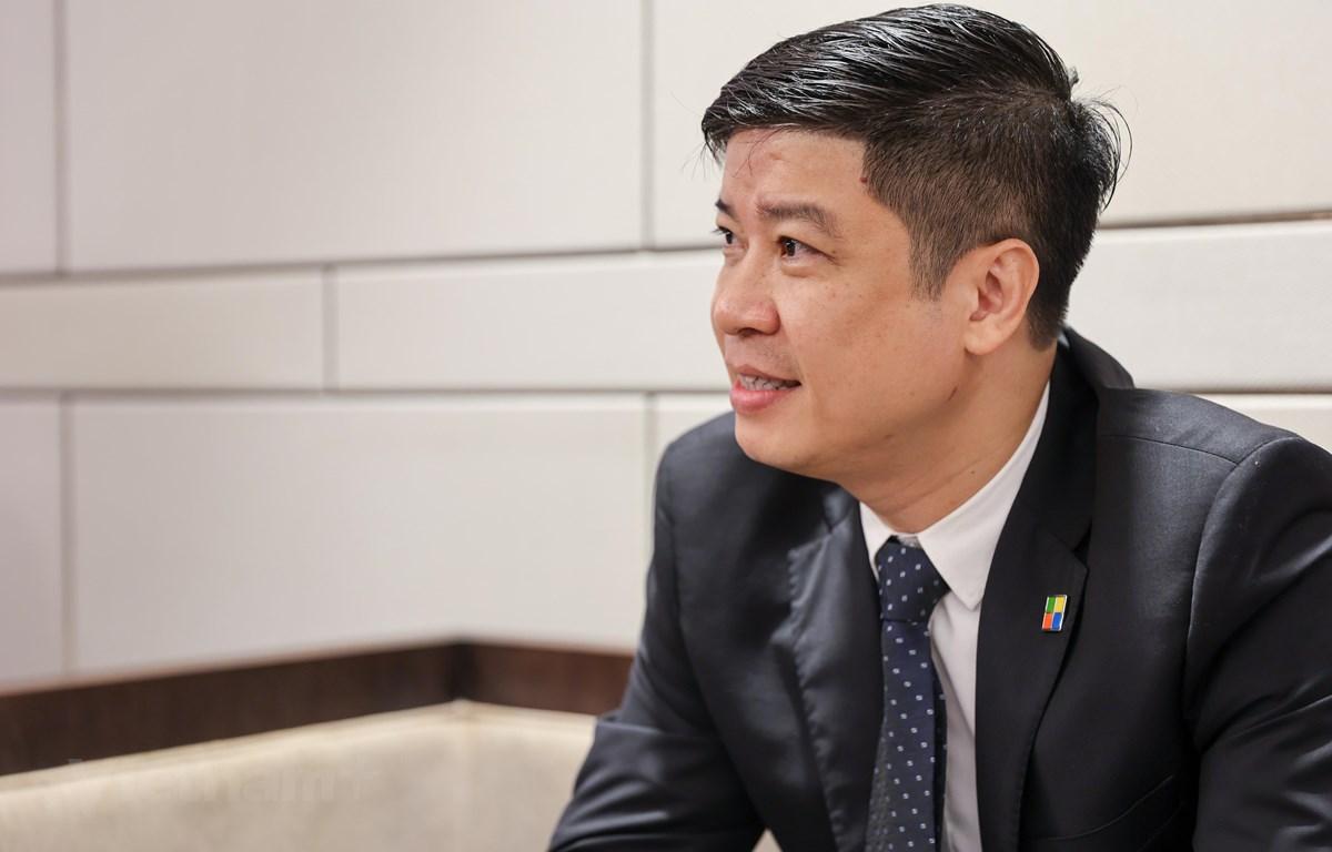Ông Phạm Thế Trường, người đang kiến tạo những bước đi mới của Microsoft tại Việt Nam. (Ảnh: Minh Sơn/Vietnam+)