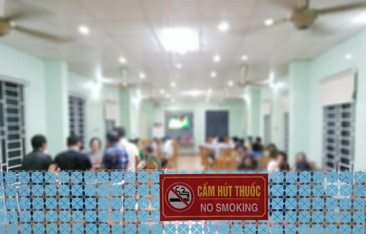 Cuộc thi nhằm đẩy mạnh việc tuyên truyền về Luật phòng chóng tác hại của thuốc lá. (Ảnh: PV/Vietnam+)