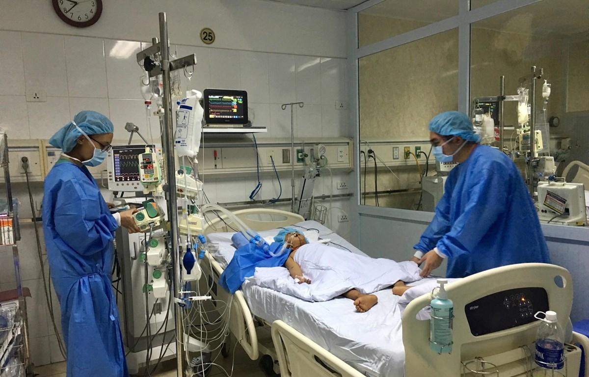 Em bé 8 tuổi sau ca ghép gan tại Bệnh viện Hữu nghị Việt Đức. (Ảnh: PV/Vietnam+)