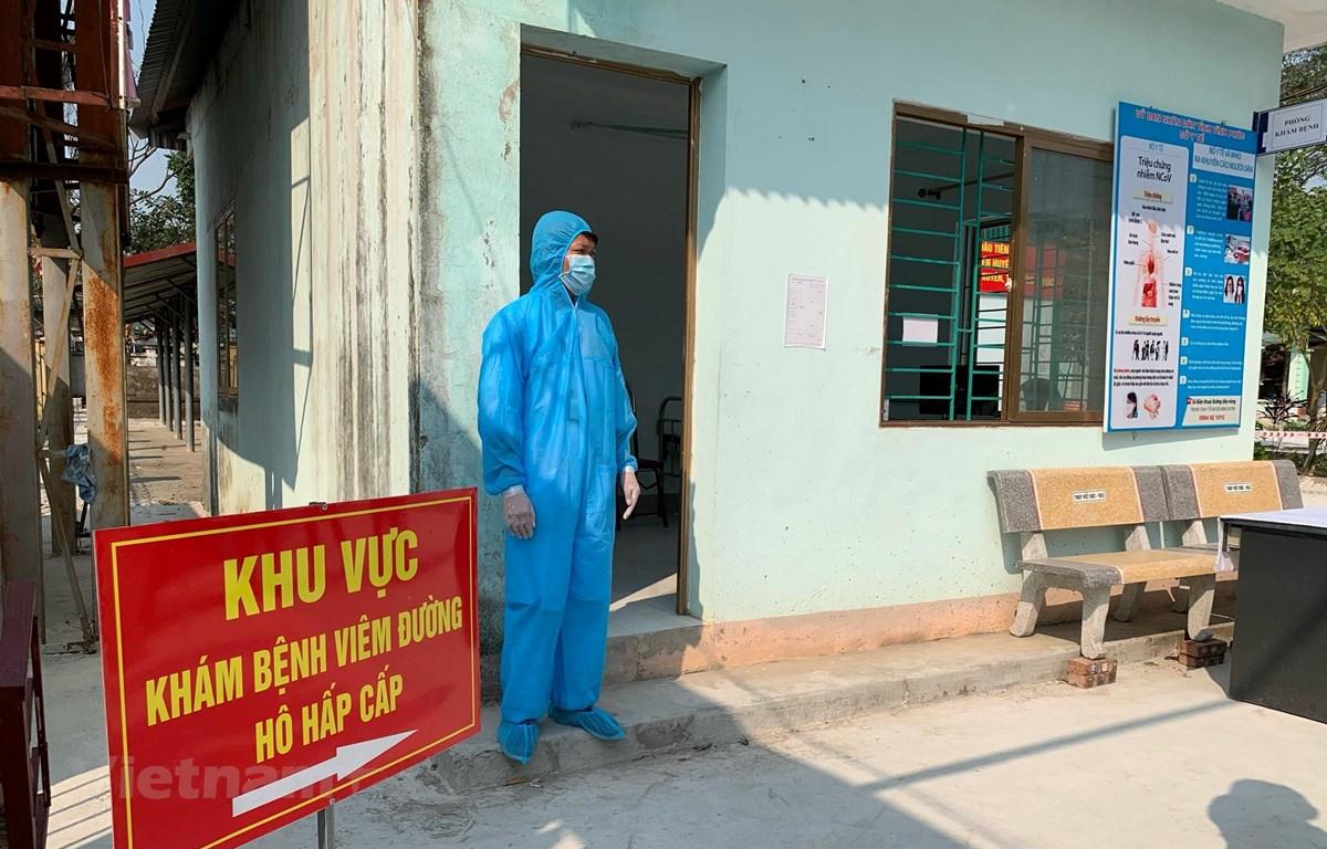 Khu vực điều trị cho các bệnh nhân dương tính tại Phòng khám đa khoa khu vực Quang Hà, huyện Bình Xuyên, Vĩnh Phúc. (Ảnh: PV/Vietnam+)