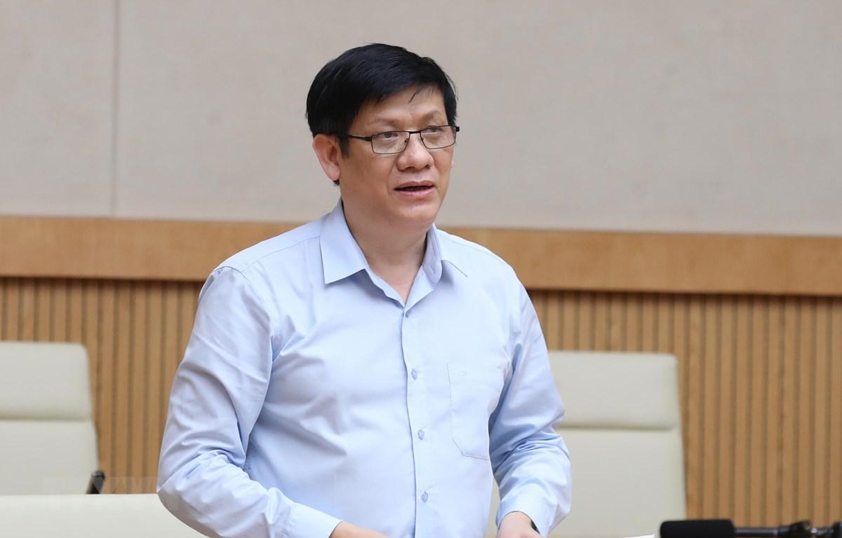 Thứ trưởng thường trực Bộ Y tế Nguyễn Thanh Long. (Ảnh: Thống Nhất/TTXVN)