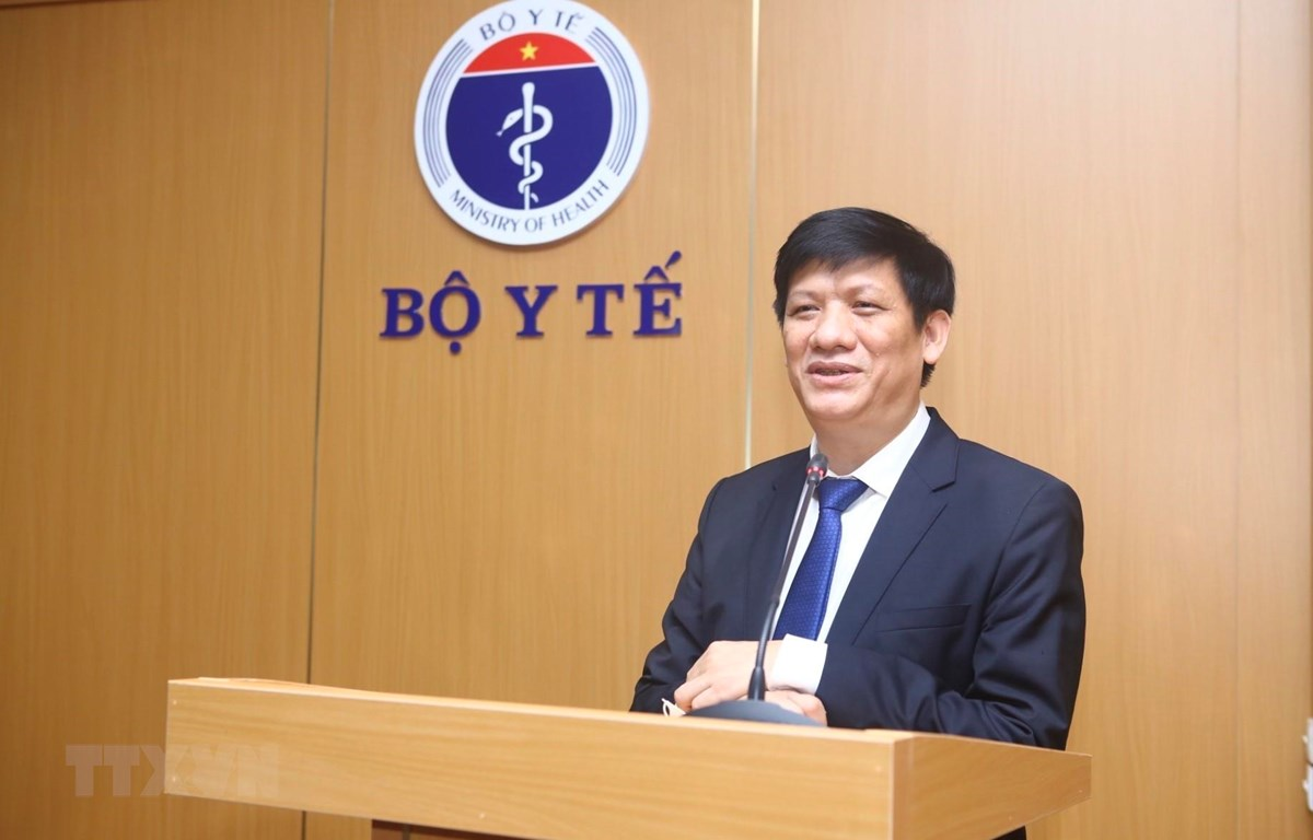 Thứ trưởng thường trực Bộ Y tế Nguyễn Thanh Long phát biểu. (Ảnh: Minh Quyết/TTXVN)