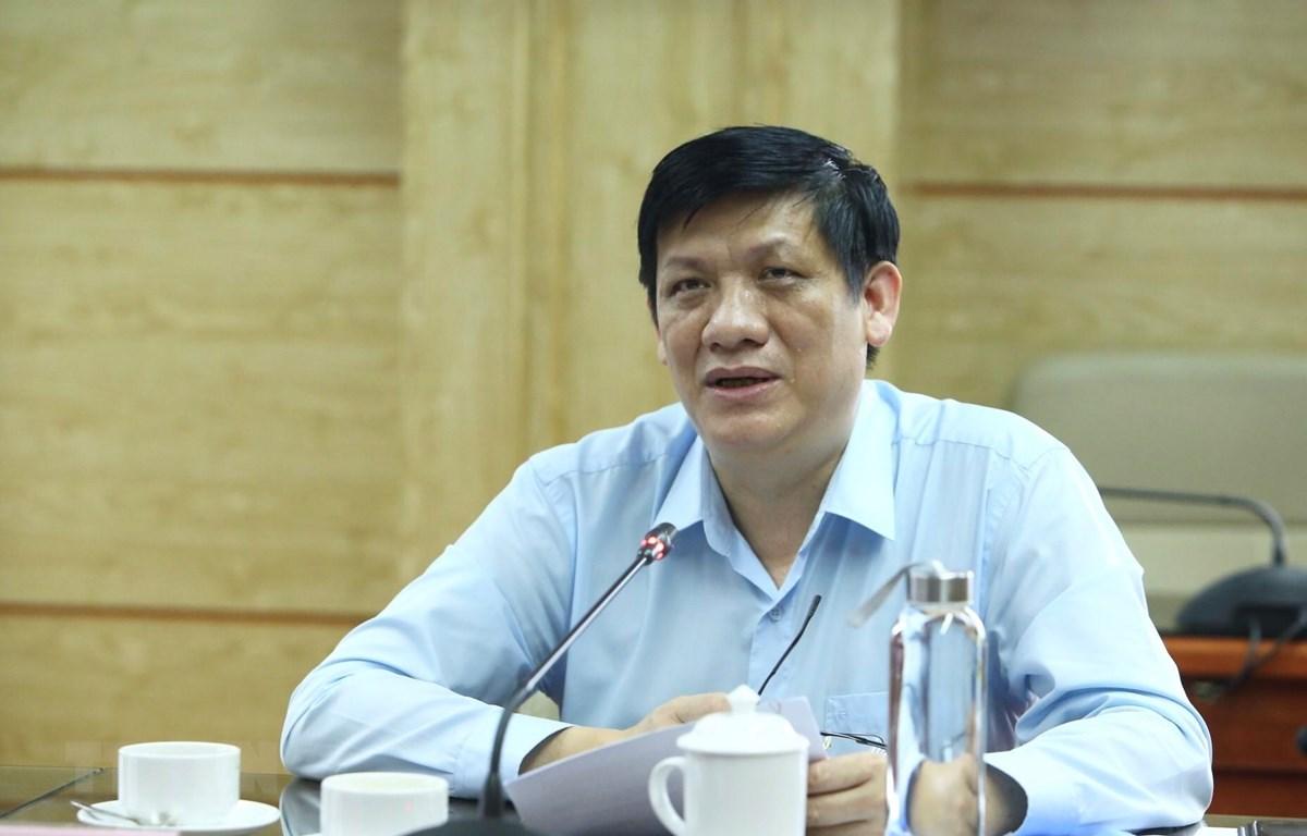Thứ trưởng thường trực Bộ Y tế Nguyễn Thanh Long. (Ảnh: Minh Quyết/TTXVN)