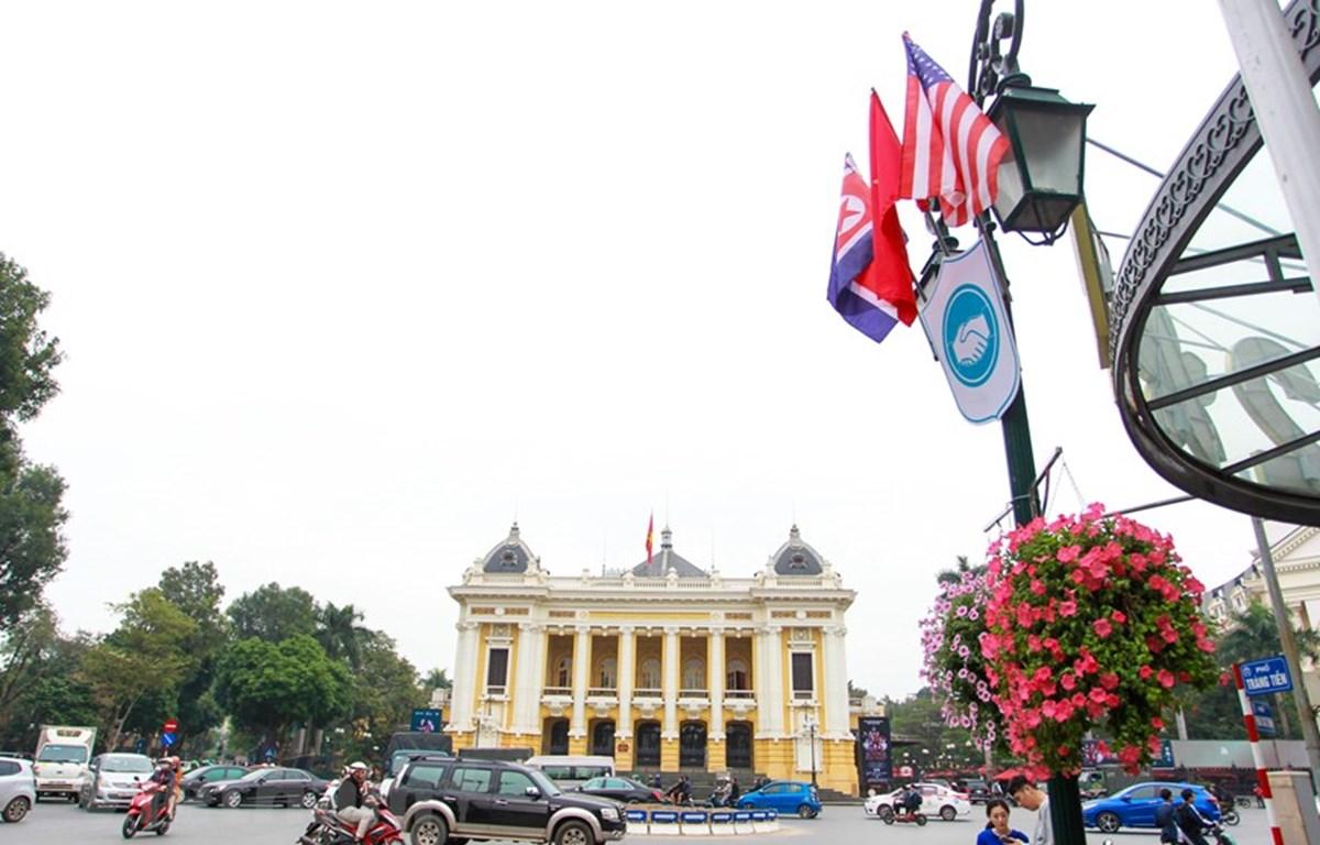Để Hội nghị thượng đỉnh Mỹ-Triều diễn ra an toàn, mọi công tác chuẩn bị đã được thành phố Hà Nội triển khai từ nhiều ngày nay. (Ảnh: Minh Sơn/Vietnam+)