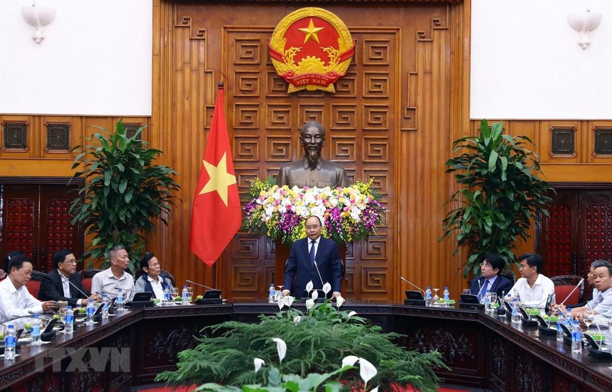 Trong ảnh: Thủ tướng Nguyễn Xuân Phúc phát biểu. (Ảnh: Thống Nhất/TTXVN)