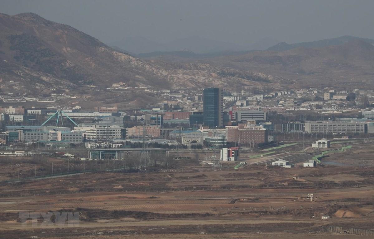 Trong ảnh: Khu công nghiệp chung Kaesong ở thị trấn biên giới Kaesong của Triều Tiên. (Nguồn: Yonhap/TTXVN)