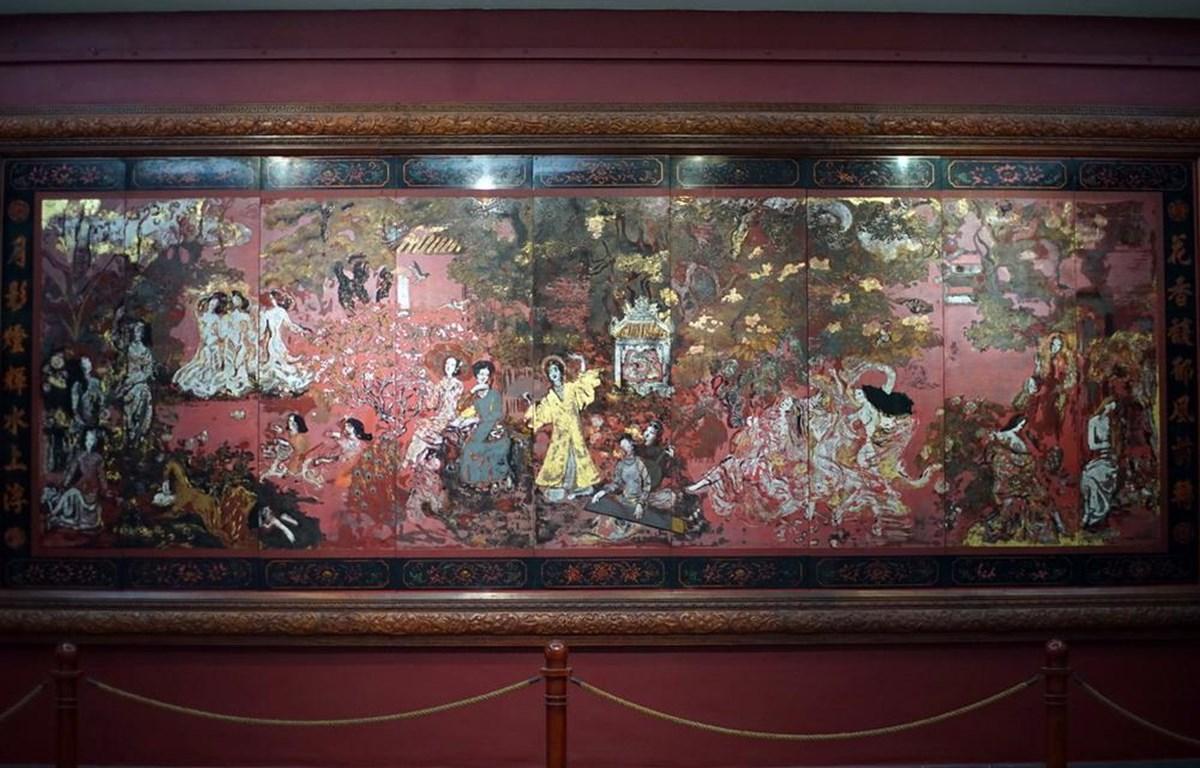 Bức tranh Vườn xuân Bắc Trung Nam trước khi bị can thiệp (Nguồn: Quỹ Di sản)