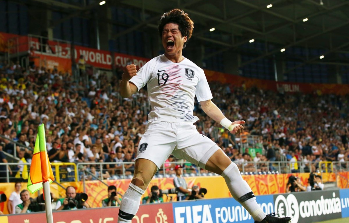 Jun Choi ghi bàn thắng duy nhất giúp U20 Hàn Quốc chiến thắng. (Nguồn: Getty Images)