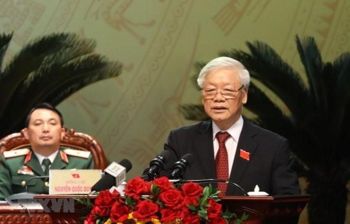 Tổng Bí thư, Chủ tịch nước Nguyễn Phú Trọng phát biểu chỉ đạo Đại hội. (Ảnh: Văn Điệp/TTXVN)