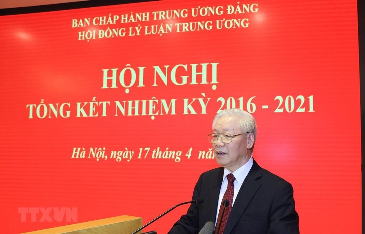Tổng Bí thư Nguyễn Phú Trọng phát biểu tại Hội nghị. (Ảnh: Trí Dũng/TTXVN)