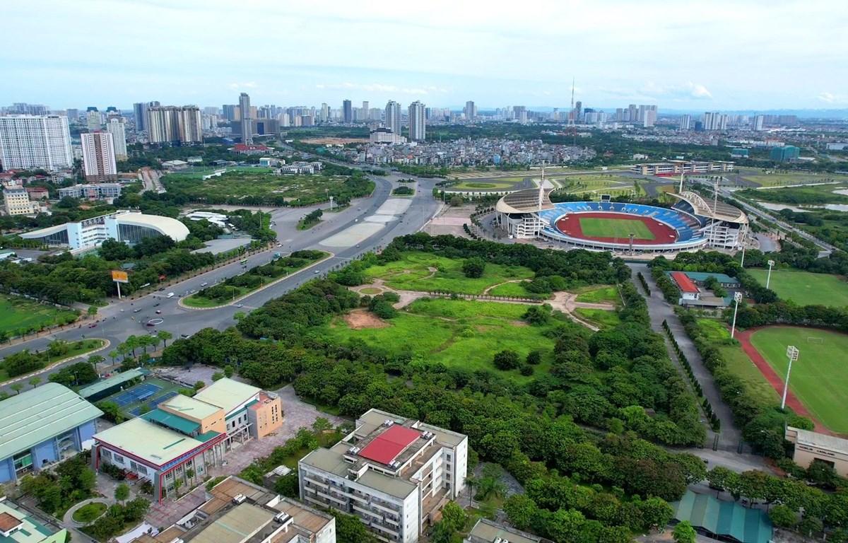 Khu liên hợp thể thao Mỹ Đinh. (Ảnh: Hào Nguyễn/Vietnam+)