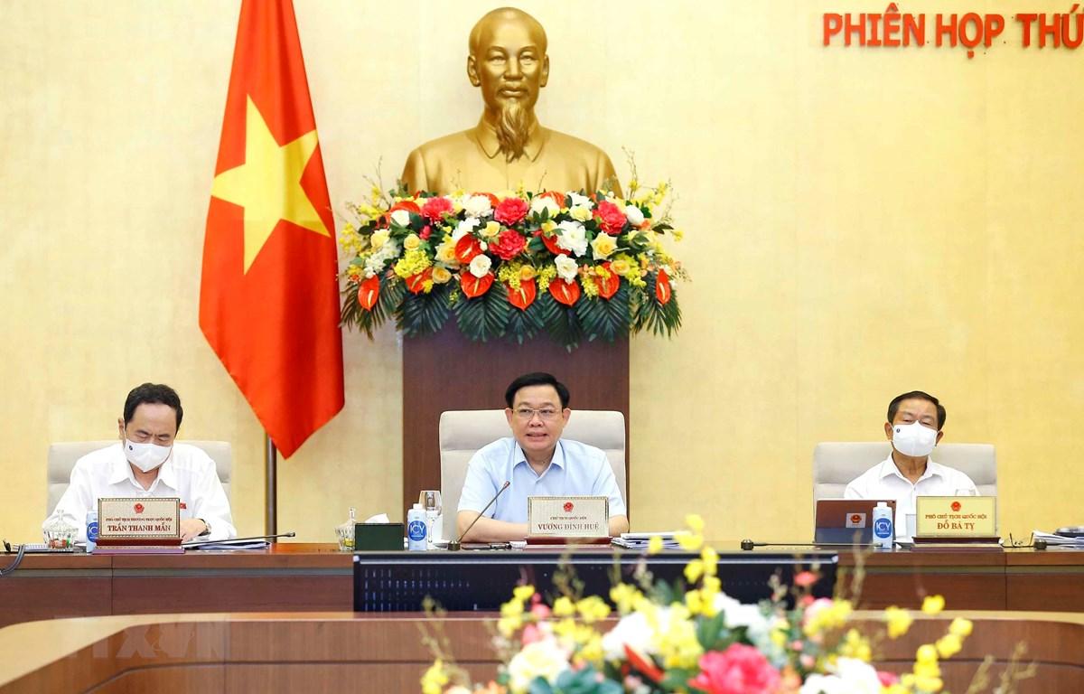 Chủ tịch Quốc hội Vương Đình Huệ phát biểu ý kiến. (Ảnh: Doãn Tấn/TTXVN)
