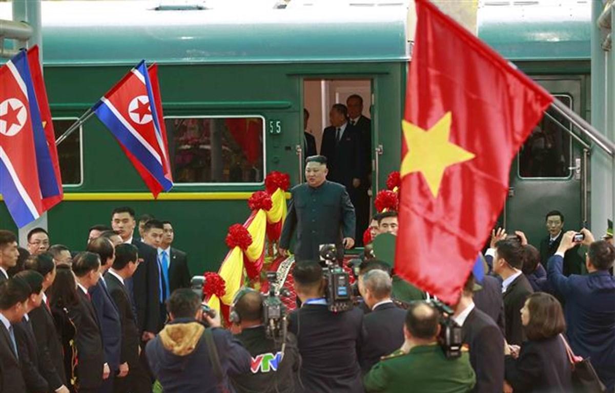 Đúng 8 giờ sáng 26/2/2019, Chủ tịch Đảng Lao động Triều Tiên, Chủ tịch Ủy ban Quốc vụ nước Cộng hòa dân chủ nhân dân Triều Tiên Kim Jong-un đã đến thị trấn biên giới Đồng Đăng, huyện Cao Lộc, tỉnh Lạng Sơn trên đoàn tàu hỏa đặc biệt, bắt đầu chuyến tham d