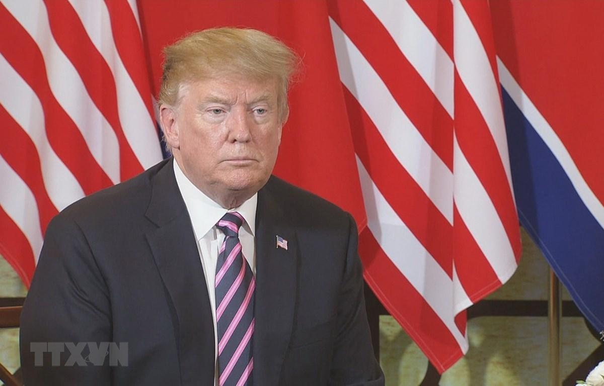 Tổng thống Mỹ Donald Trump tại thủ đô Hà Nội. (Ảnh: TTXVN)